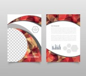 Photo poster flyer pamphlet brochure cover design layout space for photo background with polygonal style, vector illustration template in A4 size.