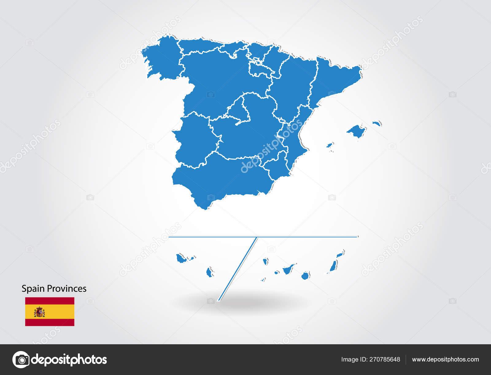 Mapa España Provincias Blanco.Diseno De Mapas De Las Provincias De Espana Con Estilo 3d