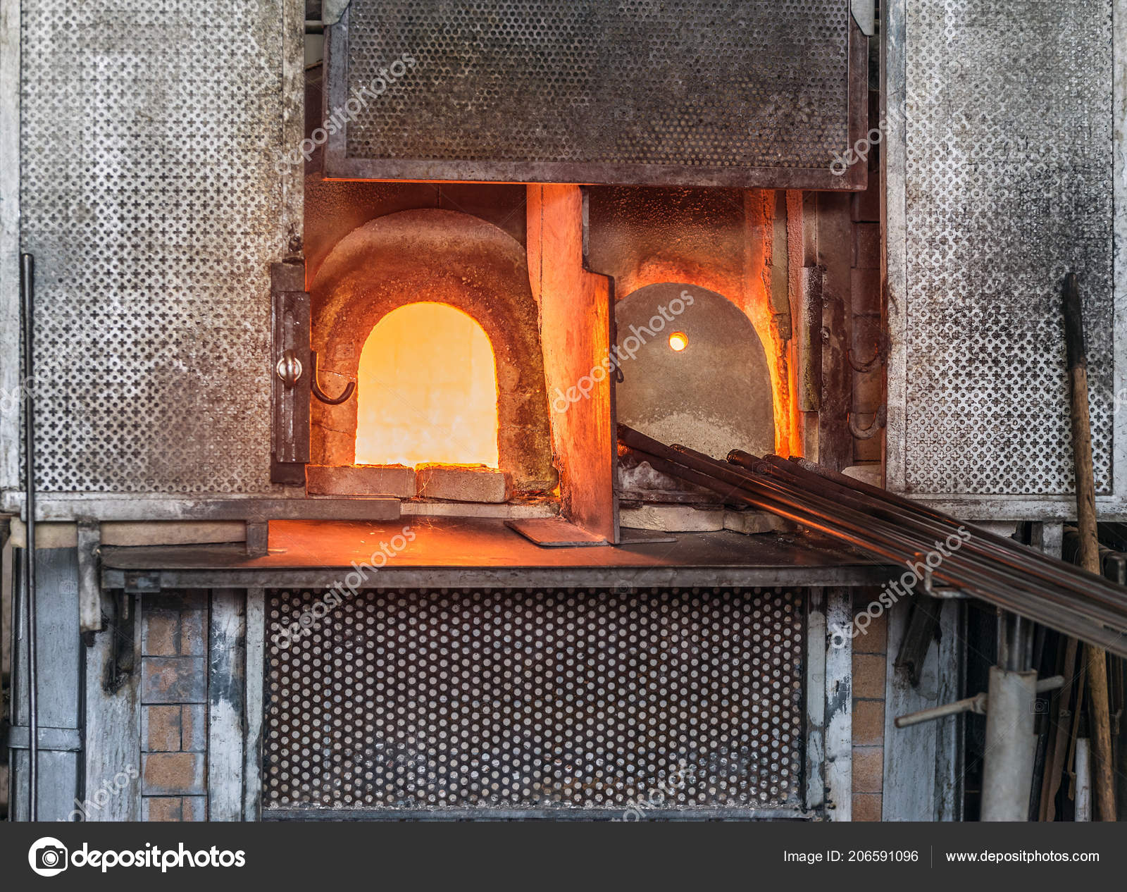 Murano Glass Factory.Italy Venice Murano Glass Factory Special Glass Blowing