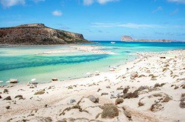 Balos bay and Gramvousa island, Crete, Greece
