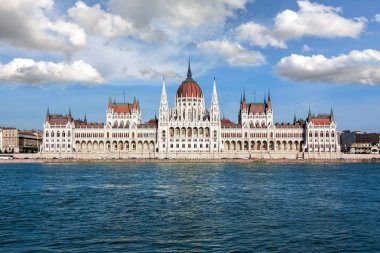 Parliament of Hungary in Budapest and Danube river