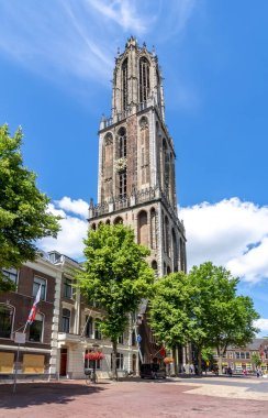 Dom tower on central square, Utrecht, Netherlands