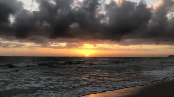 Wonderful sunrise on the ocean in the Dominican Republic