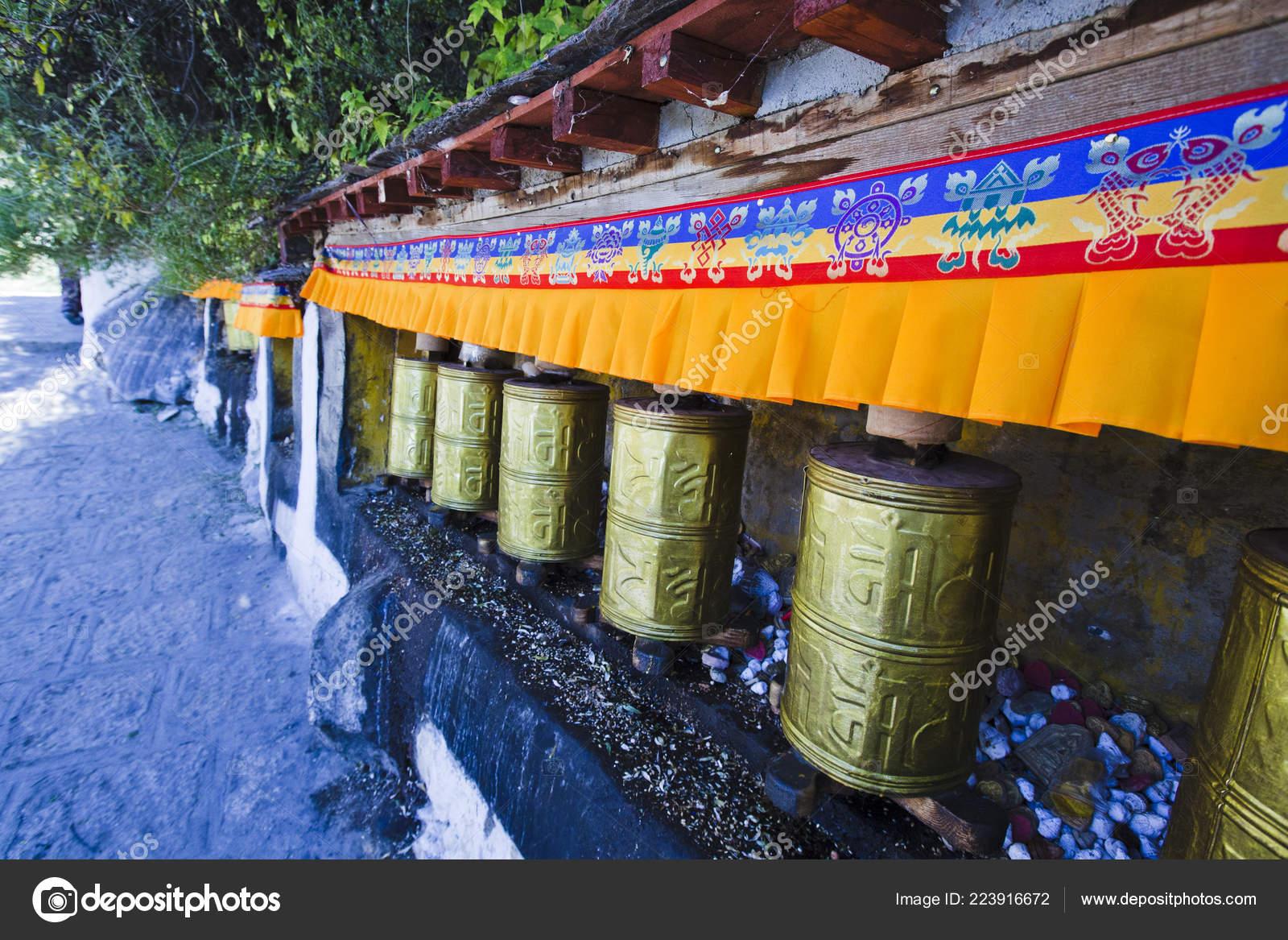 Tibetan Drums Mantras — Stock Photo © ascherbakova #223916672