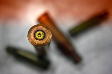 War Concept. The war in Syria is the consequences of the war in the world. Military bullet shell after the battle, a drop of blood. War in the whole world
