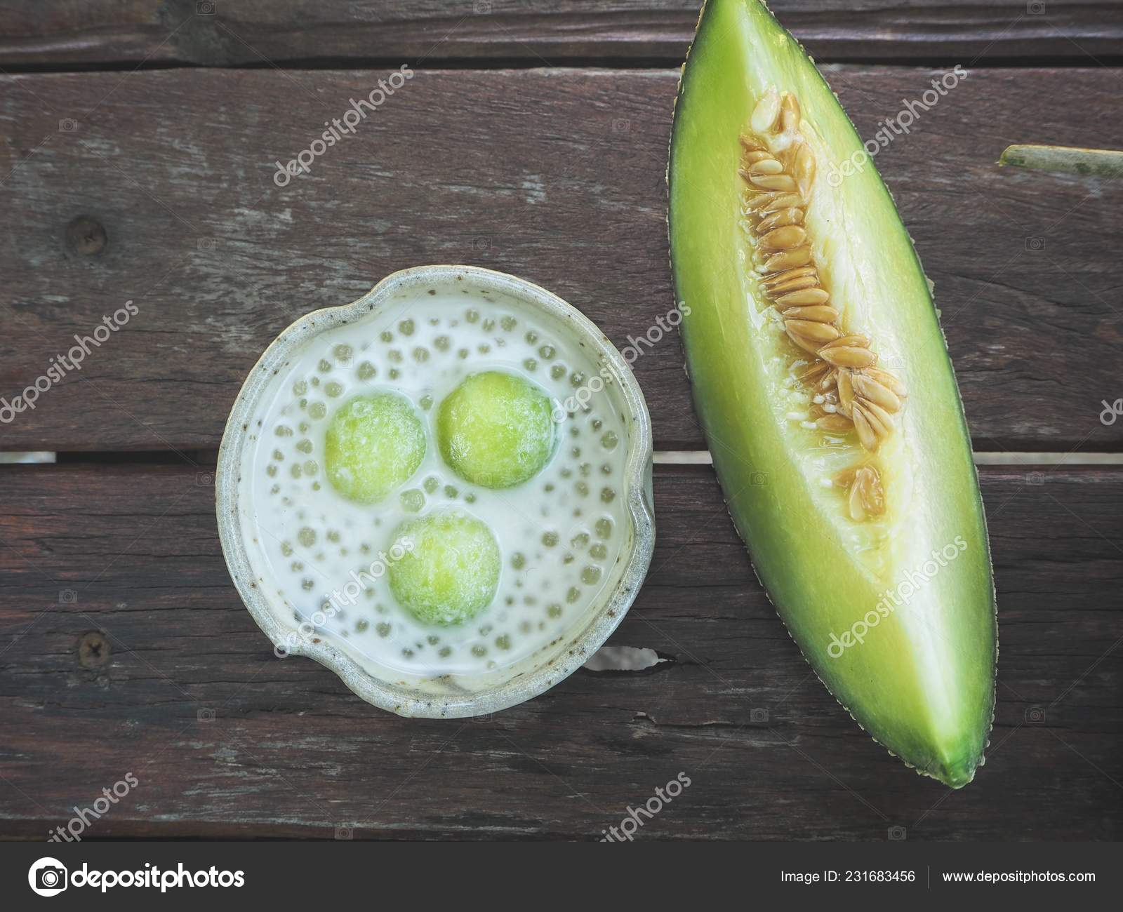 Dessert Cantaloupe Melon Coconut Milk Stock Photo C Luknaja 231683456 This week's edition of #shareyoursmoothies is just what you've been. depositphotos