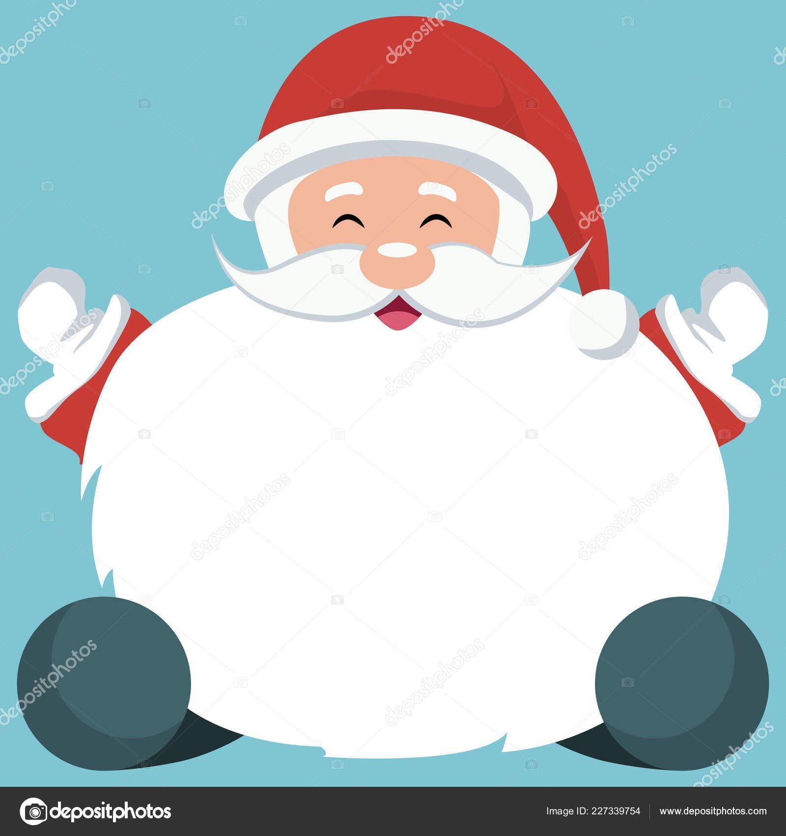Tarjeta Navidad Papa Noel Sentado Con Fondo Blanco Para Escribir