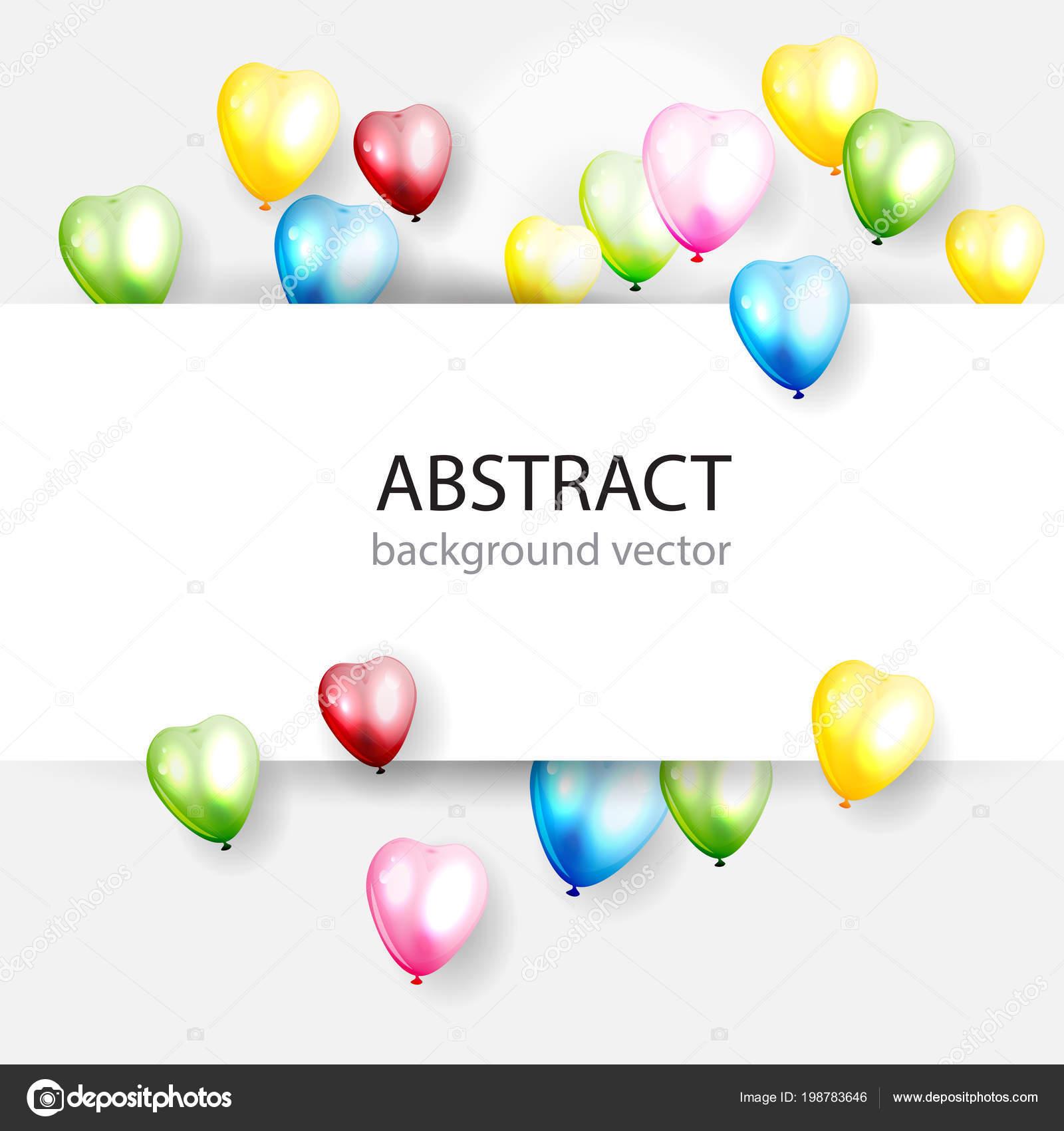 Fondo Colorida Celebración Con Globos Ilustración Vectorial — Vector de  stock b6203bcf9f8