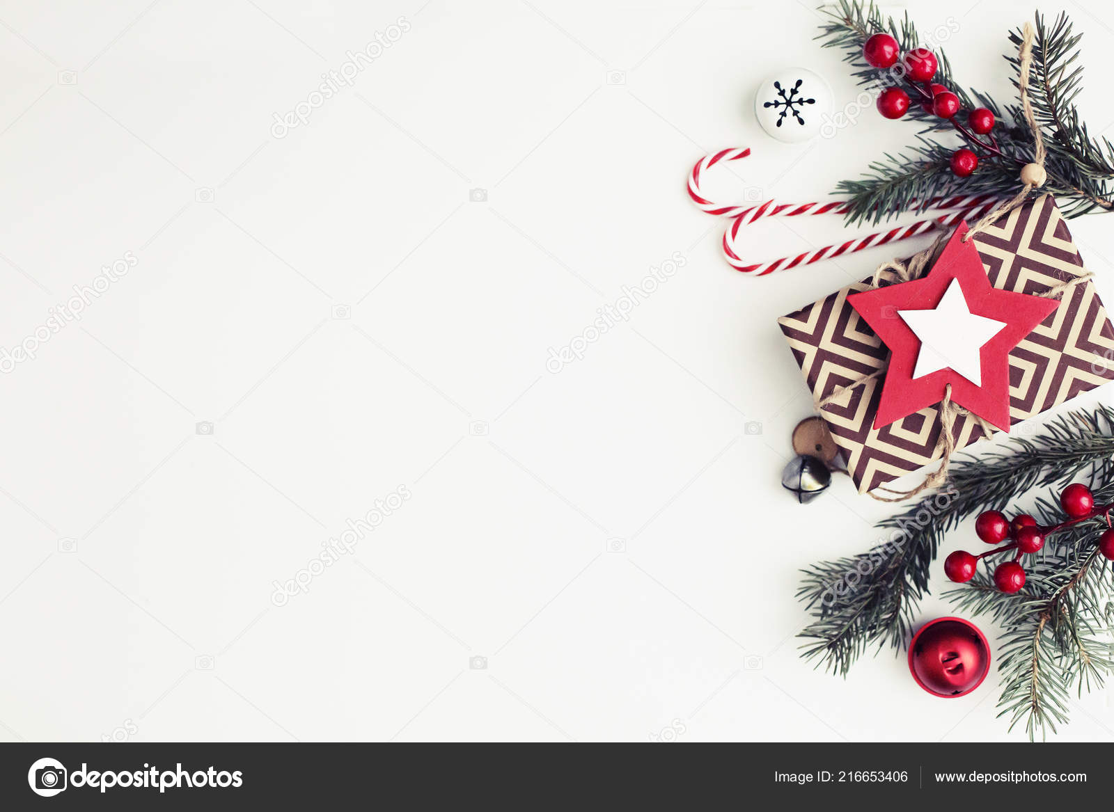 Top View Christmas Decorations White Background Vintage Colour — Stock Photo