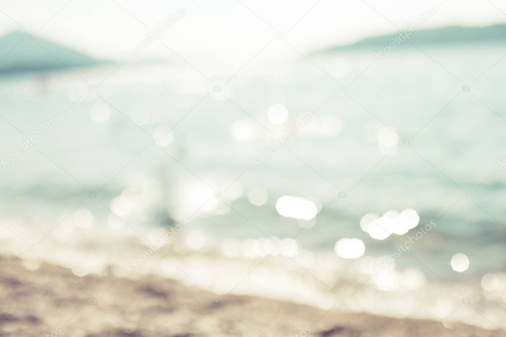 Abstract flickering sea water at beach, summer vacation background