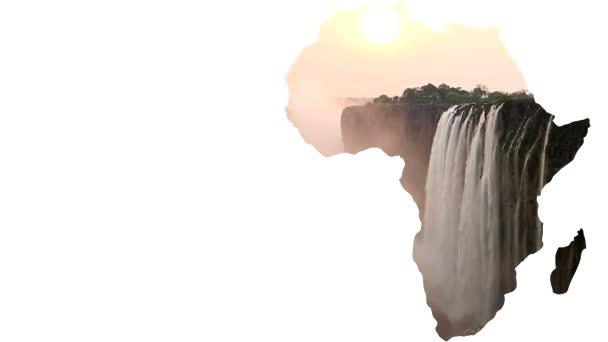 Afriky kontinentu tvar s Victoria falls a prázdné místo