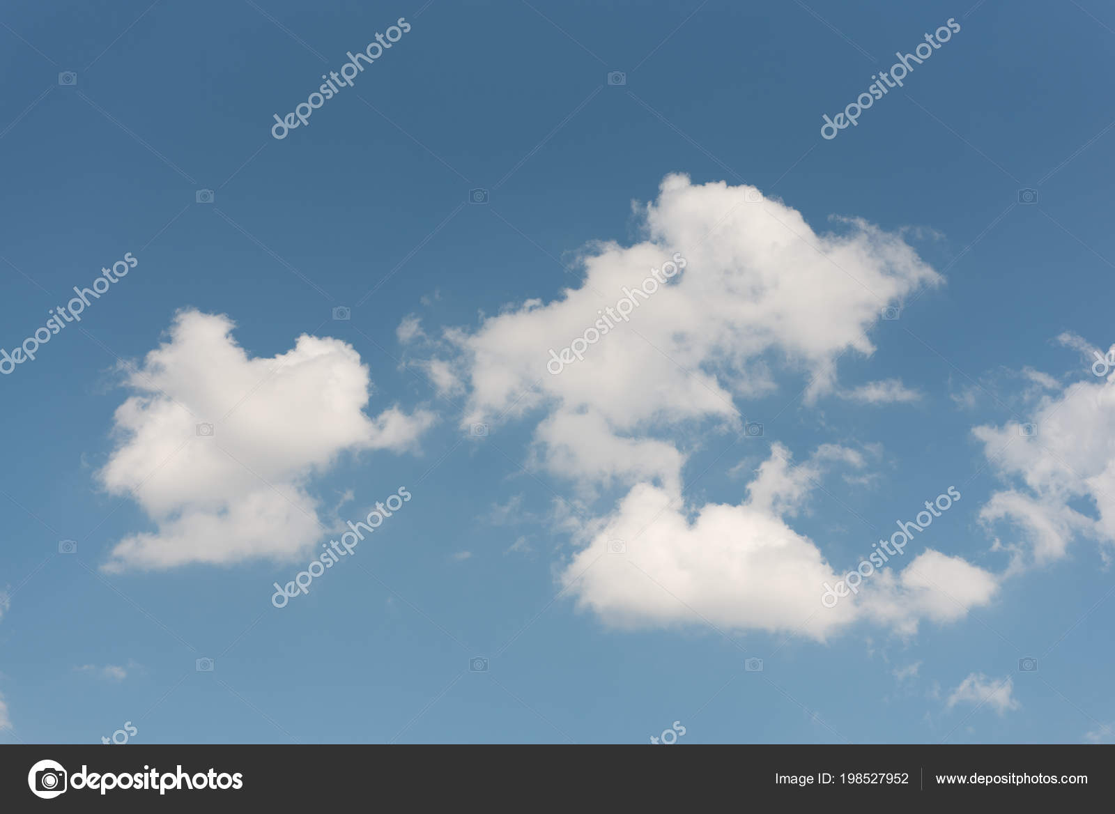 blue sky group white clouds wallpaper background — stock photo