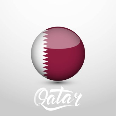 Qatar national color Button Icon isolated
