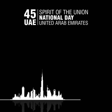 United Arab Emirates (UAE). National Day Celebration. Vector illustration. On the December the 2nd, spirit of the union.