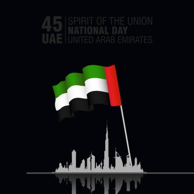 United Arab Emirates (UAE). National Day Celebration. Vector illustration. On the December the 2nd, spirit of the union.