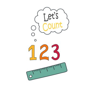 protractor ruler icon, school illustration - education icon, measurement scale tool