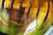 Abstraktní motion blur efekt. Jarní rozmazané květy