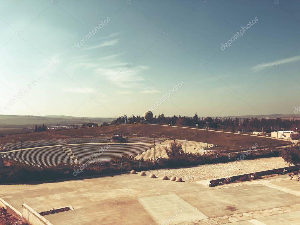 LATRUN, ISRAEL - MARCH 13, 2018: Amphitheater in Latrun, Israel
