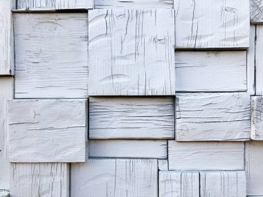 Rustic Old Shabby White Wood Board Wall Background