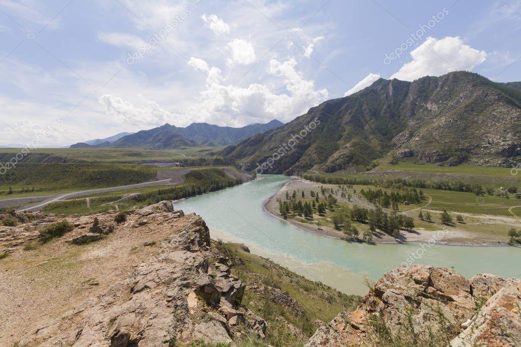 Altai mountains. Katun river.