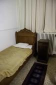 Régi kórházi ágyon, részletesen szoba, egészségügyi ellátási és