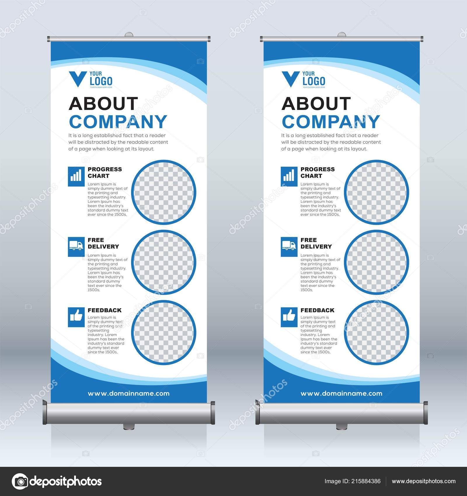 Roll Banner Design Template Vertical Abstract Background Pull Design Modern Stock Vector C Vectorexpert 215884386