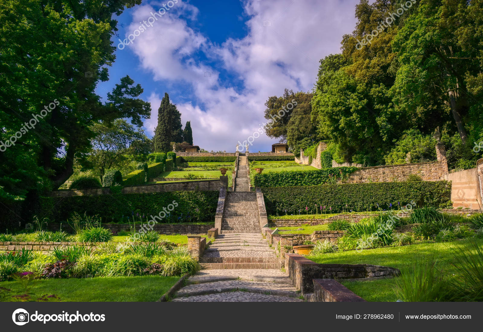 View Bardini Gardens Florence Italy Stock Photo C Jbyard 278962480