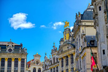 Buildings and architecture in the Grand Place, or Grote Markt, the central square of Brussels, Belgium.