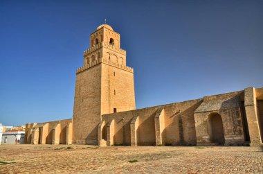 "Картина, постер, плакат, фотообои ""Древний Великая мечеть Кайруан в пустыне Сахара, Тунис, Африка, Hdr"", артикул 226363952"