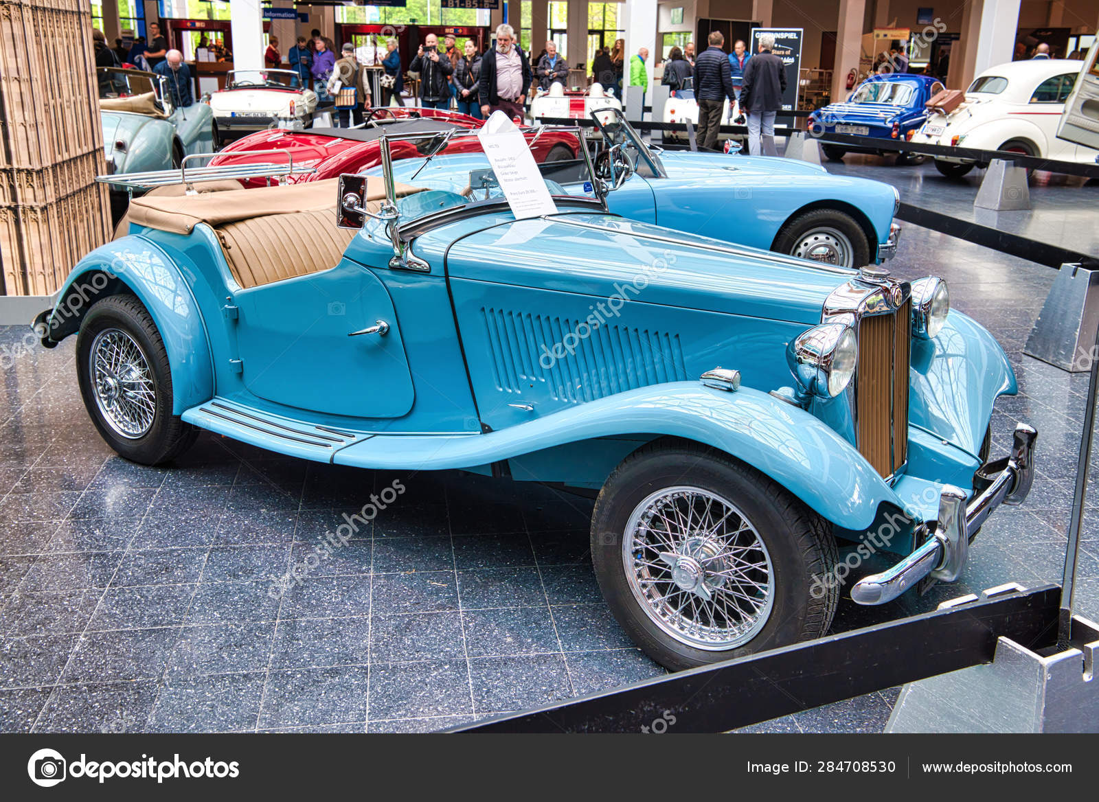 Friedrichshafen May 2019 Blue Mg Td 1951 Cabrio Roadster At Motorworld Classics Bodensee On May 11 2019 In Friedrichshafen Germany Stock Editorial Photo C Eagle2308 284708530