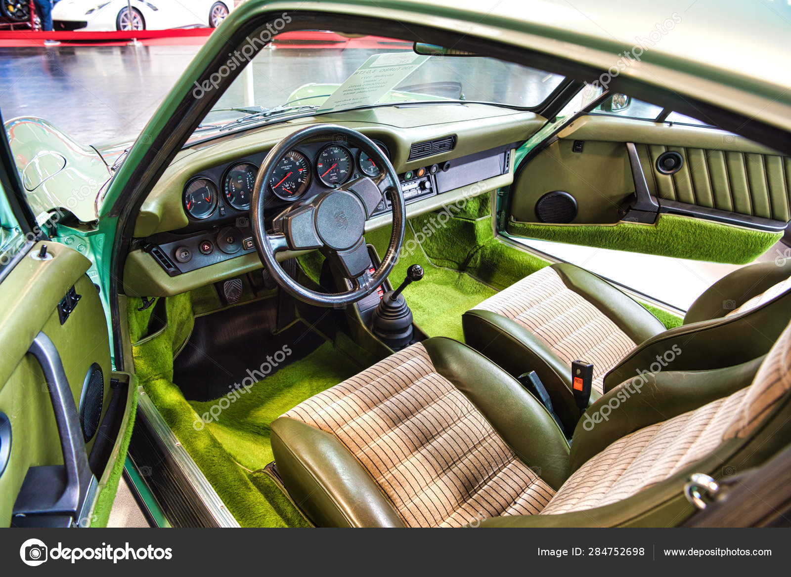 Friedrichshafen May 2019 Green Interior Of Porsche 911 930 964 Carrera 4 1990 Cabrio At Motorworld Classics Bodensee On May 11 2019 In Friedrichshafen Germany Stock Editorial Photo C Eagle2308 284752698