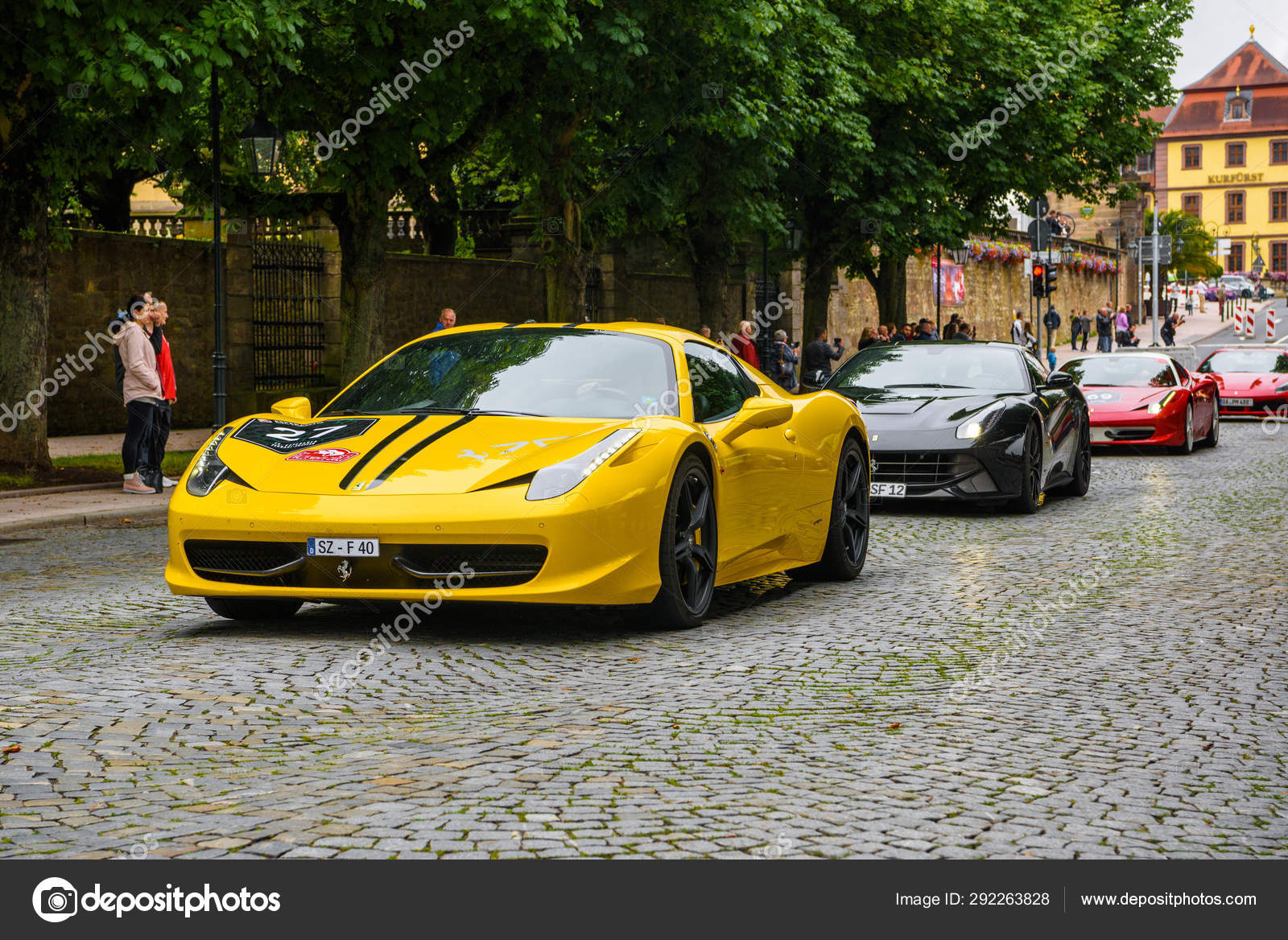 Germany Fulda Jul 2019 Yellow Ferrari 458 Spider Coupe Was Introduced At The 2011 Frankfurt Motor Show This Convertible Variant Of The 458 Italia Features An Aluminium Retractable Hardtop Which Stock Editorial Photo C Eagle2308 292263828
