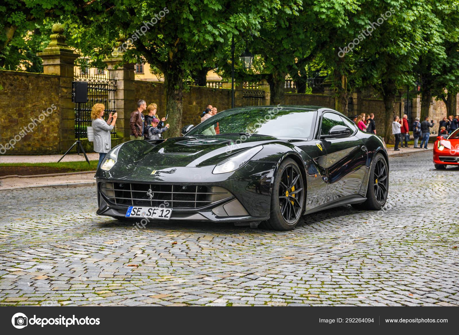 Germany Fulda Jul 2019 Dark Gray Ferrari F12 Berlinetta Coup Stock Editorial Photo Eagle2308 292264094