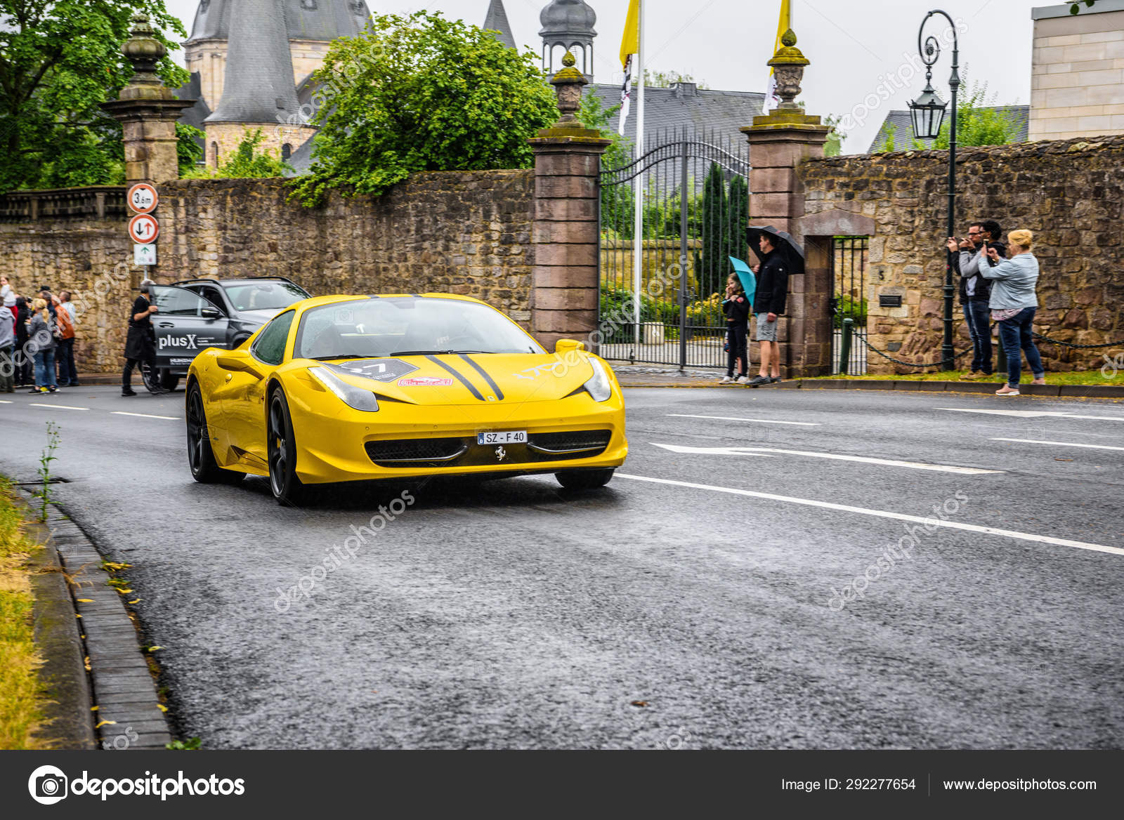 Germany Fulda Jul 2019 Yellow Ferrari 458 Spider Coupe Was I Stock Editorial Photo C Eagle2308 292277654