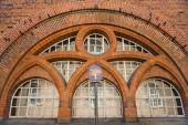 zár megjelöl Kilátás és gyönyörű történelmi épület utcai fény, Koppenhága, Dánia