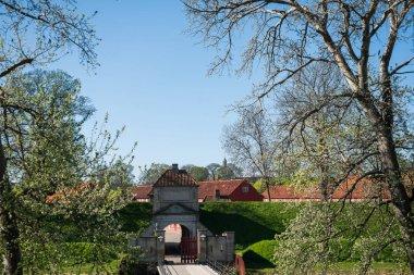 gates to famous Kastellet or Citadel in copenhagen, denmark