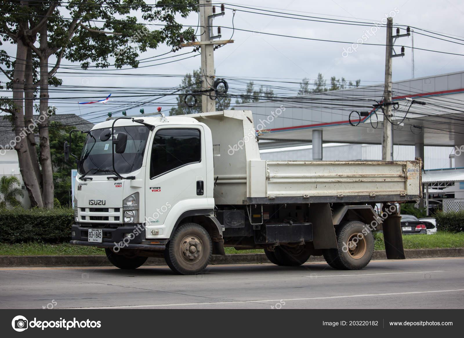 Chiangmai Thailand June 2018 Private Isuzu Dump Truck Road 1001 U2014  Fotografia De Stock