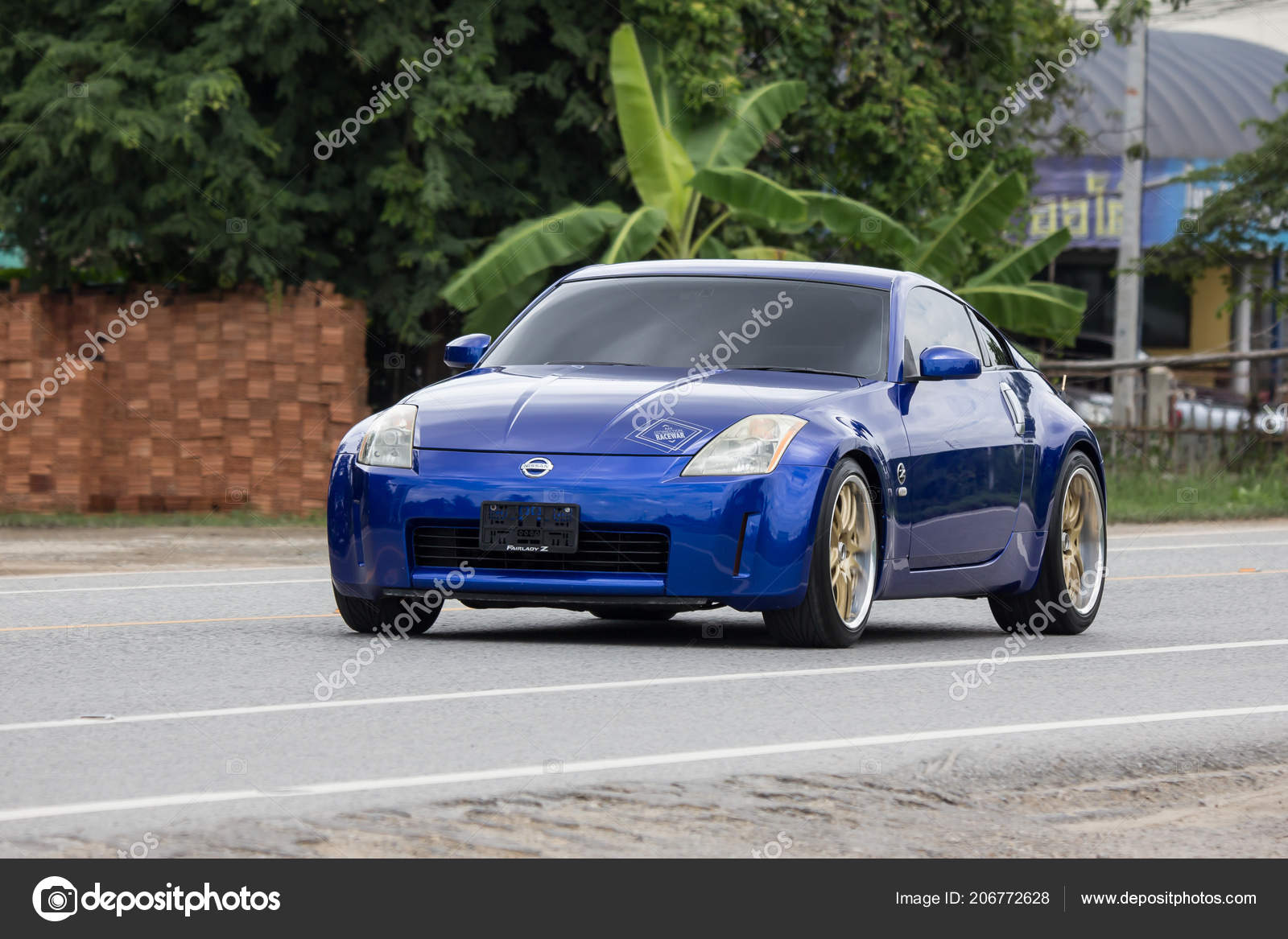 Chiangmai Thailand July 2018 Private Racing Car Nissan 350Z