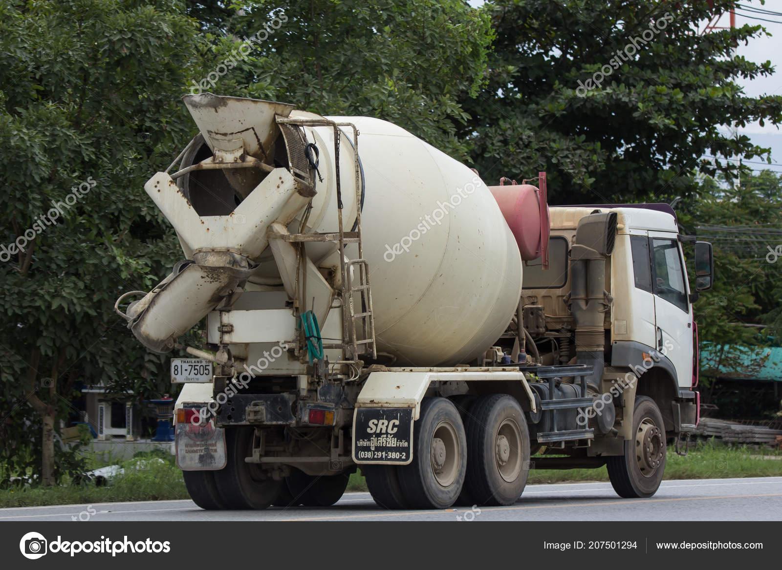 chiangmai thailand august 2018 faw cement truck thanachai company