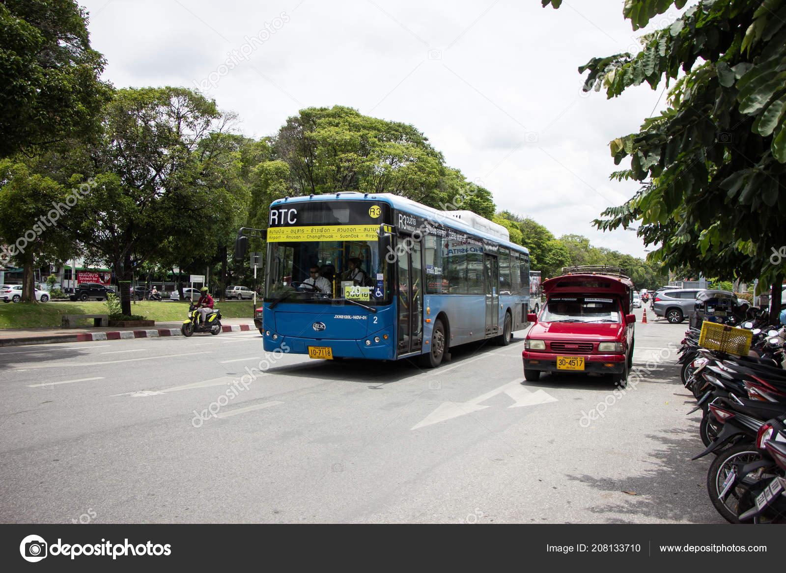 Carte Wifi Thailande.Chiang Mai Thailande Aout 2018 Blk Autobus Rtc Bus Smart Photo