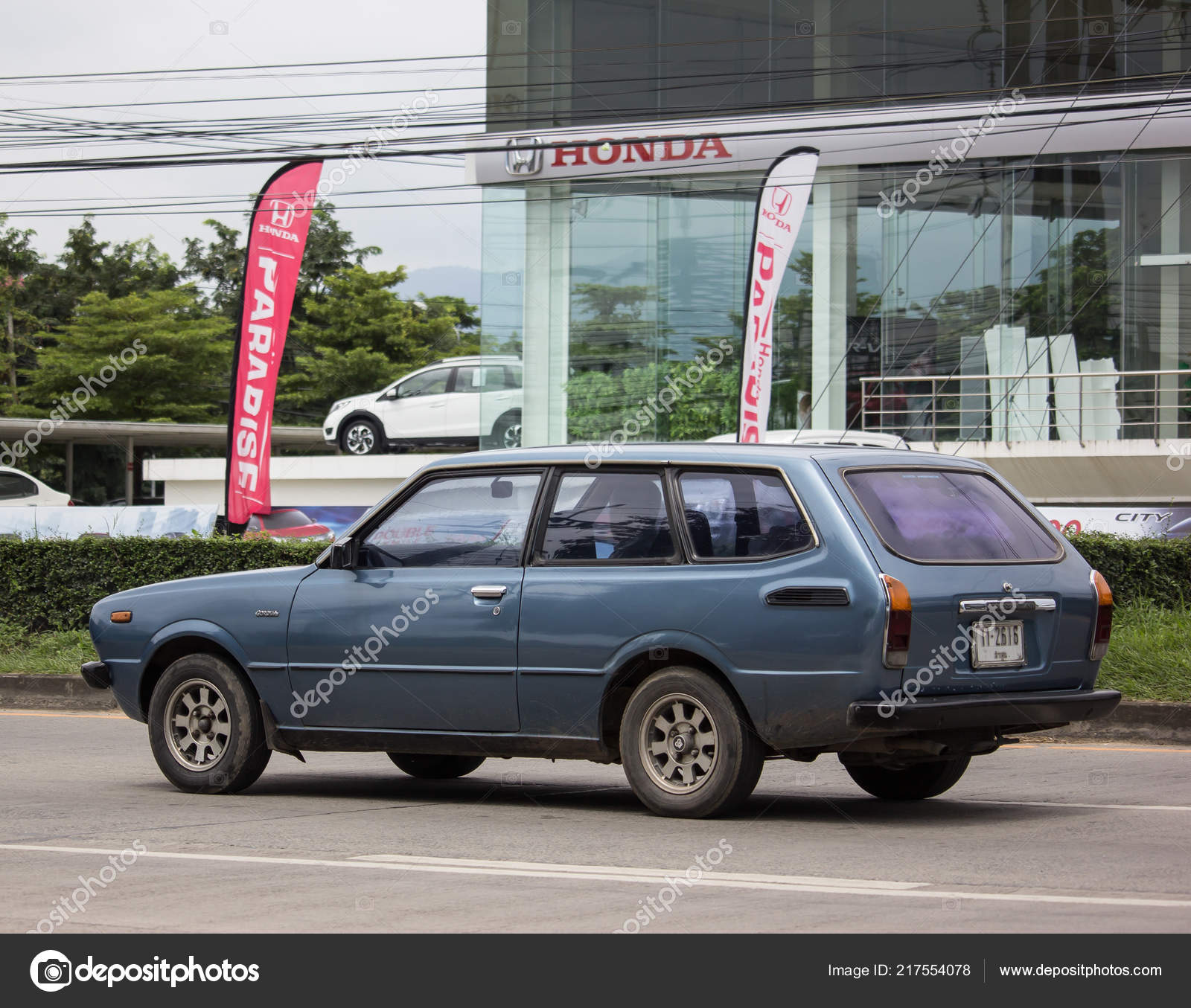 Chiangmai Thailand September 2018 Private Old Car Toyota Corolla
