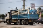 Chiang Mai, Thajsko - 12 prosince 2017: Soukromá Volvo nákladní vůz