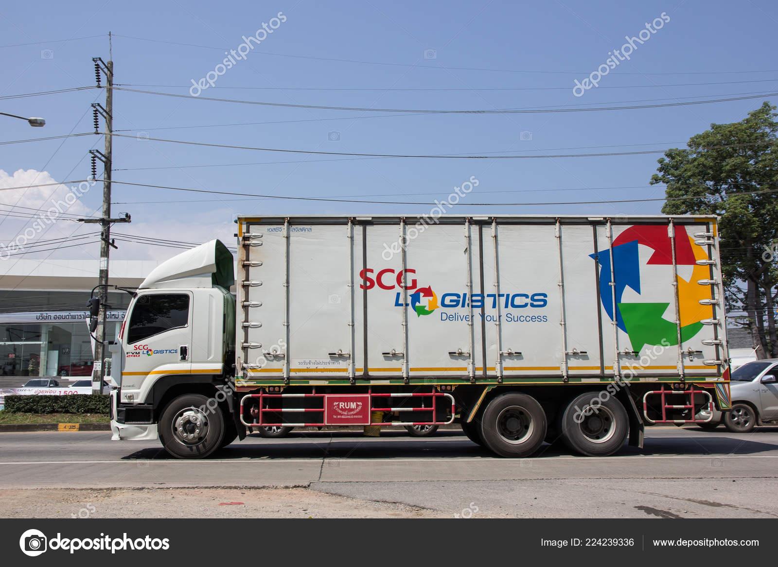 Chiangmai Thailand October 2018 Container Truck Scg Logistics