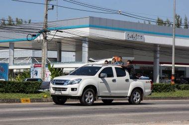 Chiangmai, Thailand - November 5 2018: Private Isuzu Dmax Pickup Truck. On road no.1001 8 km from Chiangmai city.