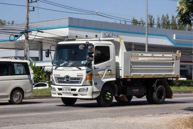 Chiangmai, Thailand - November 5 2018: Private Hino Dump Truck. On road no.1001 8 km from Chiangmai Business Area.