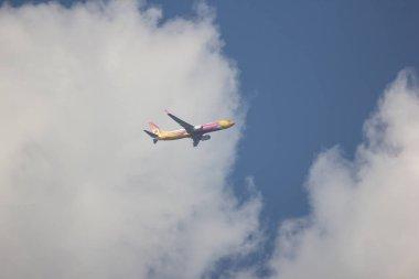 Chiangmai, Thailand - November 25 2018: HS-DBS Boeing 737-800 of NokAir . Take off from Chiangmai airport to Bangkok.