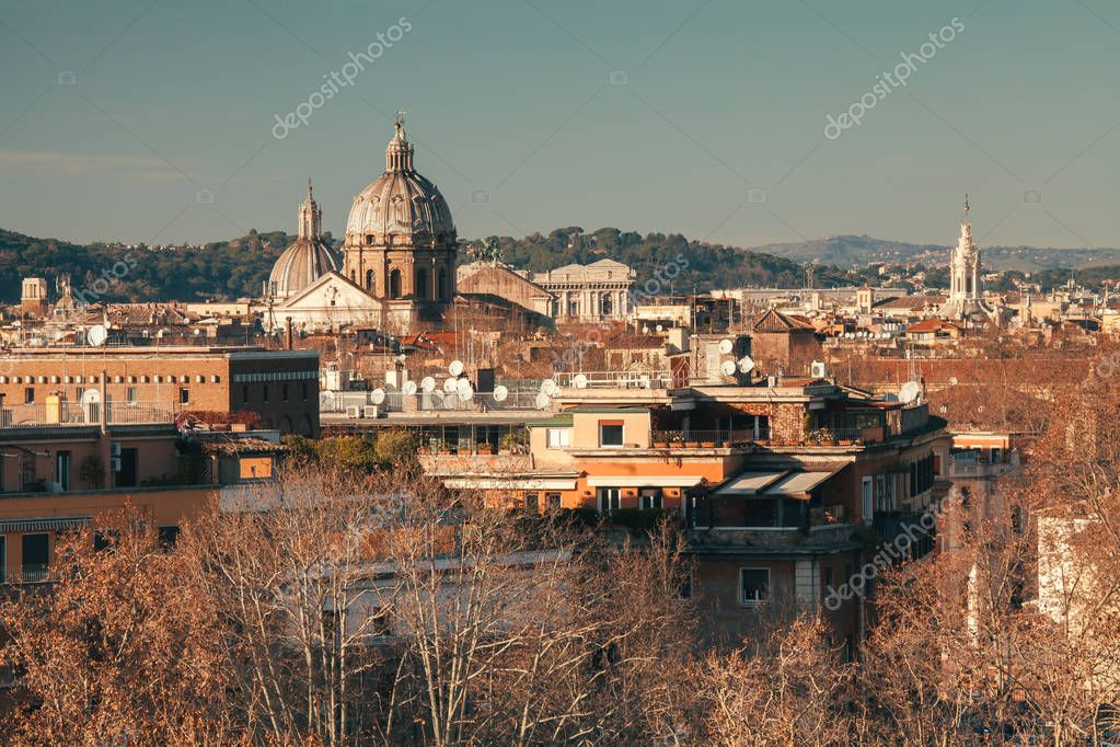 A view of Rome from the Aventino hill, Orange Garden, Rome, Italy
