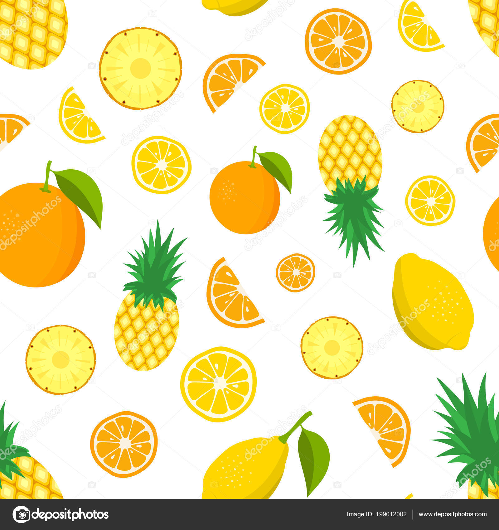 Pina naranja y limon