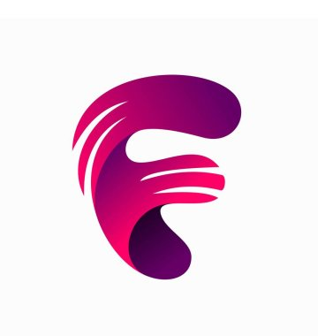 F Letter Logo Template Stock Illustration