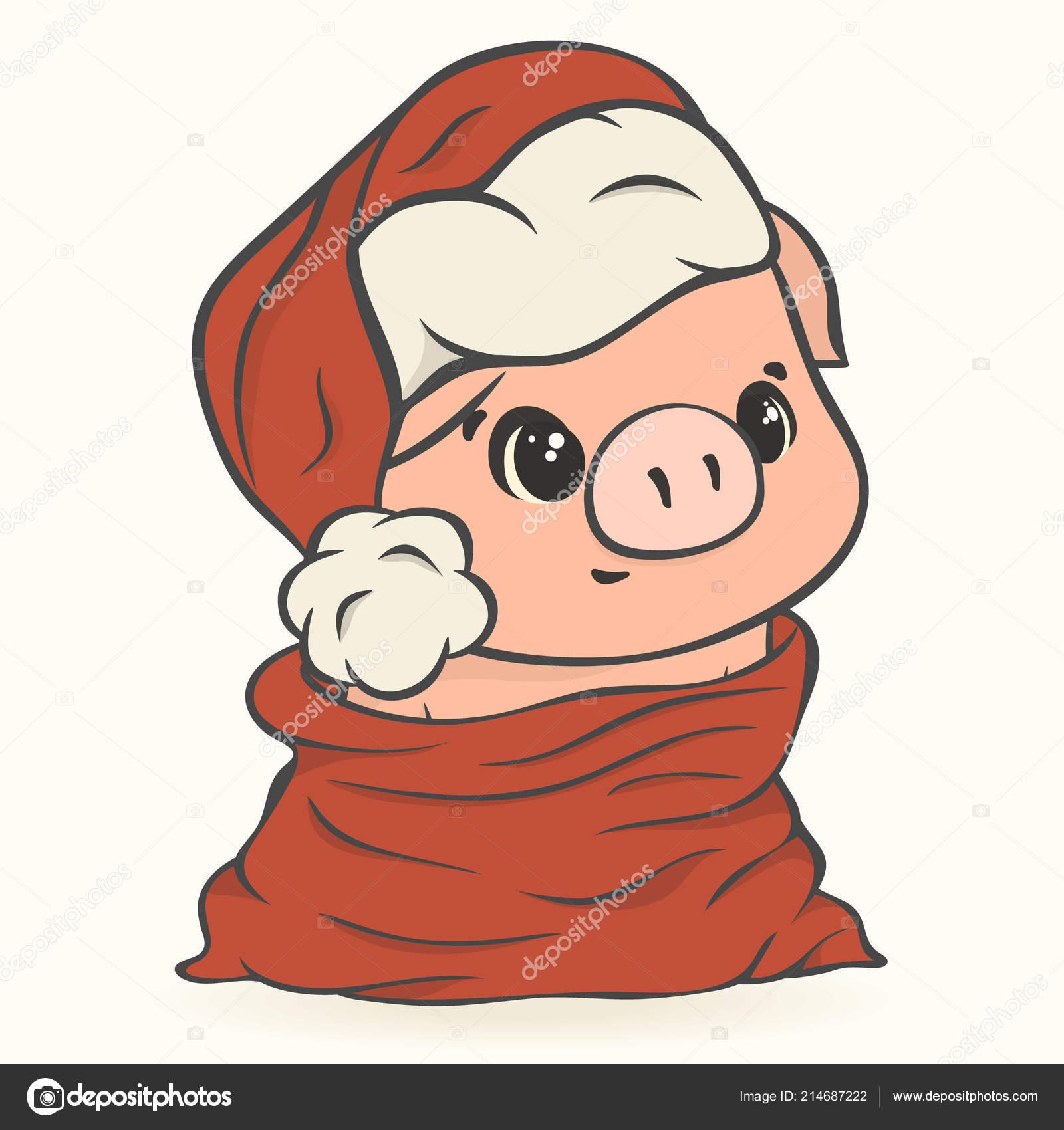 Pig Little Pig Santa Sack Christmas Sack Personalised Christmas Sack Personalized Skating Pig